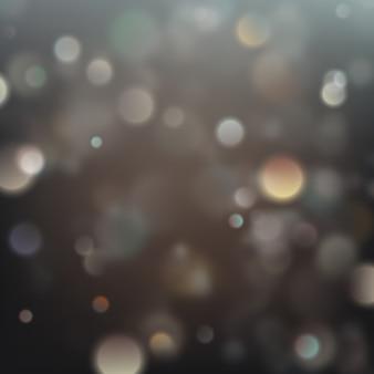 Luzes de natal borradas.