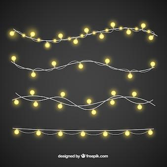 Luzes de natal com estilo elegante