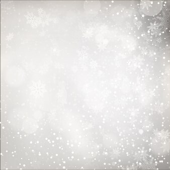 Luzes de natal em fundo cinza.