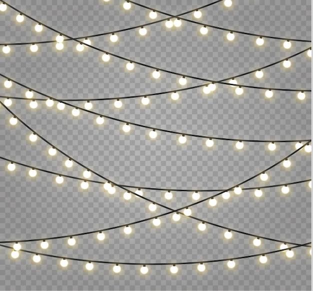 Luzes de natal . guirlanda brilhante de natal.