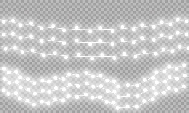 Luzes de natal, guirlanda clara.