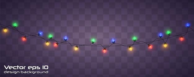 Luzes de natal. guirlanda de natal brilhante.