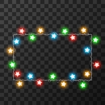 Luzes de natal isoladas em fundo transparente,