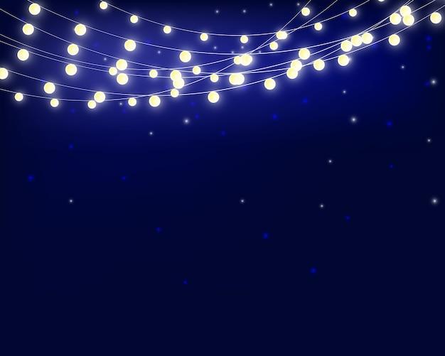 Luzes de natal isoladas luz guirlanda