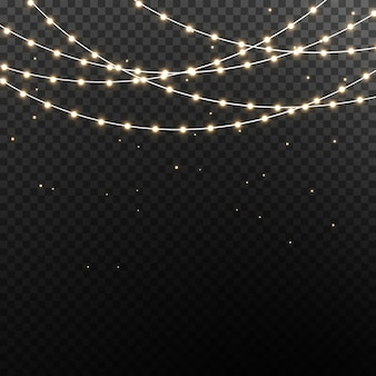 Luzes de natal isoladas