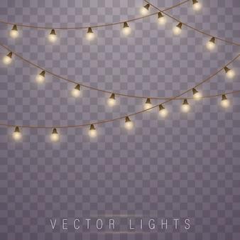 Luzes de natal. lâmpada de neon led. guirlandas de decorações.