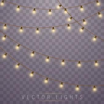 Luzes de natal. lâmpada de neon led. luzes brilhantes.