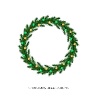 Luzes de natal. luzes de corda multicoloridas realistas para a temporada de ano novo e natal