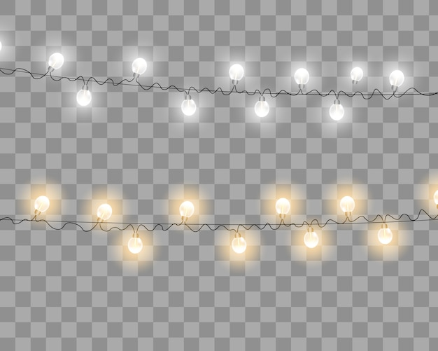 Luzes de natal vetoriais Vetor Premium
