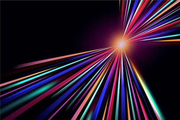 Luzes de néon abstraem base do conceito de sol