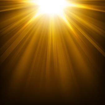 Luzes de ouro brilhando ilustração vetorial