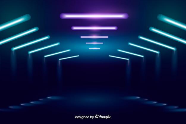 Luzes de palco de néon de fundo