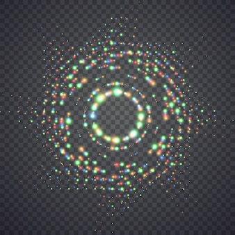 Luzes de poeira mágicas brilhantes. ilustração isolada no fundo. conceito gráfico para o seu design