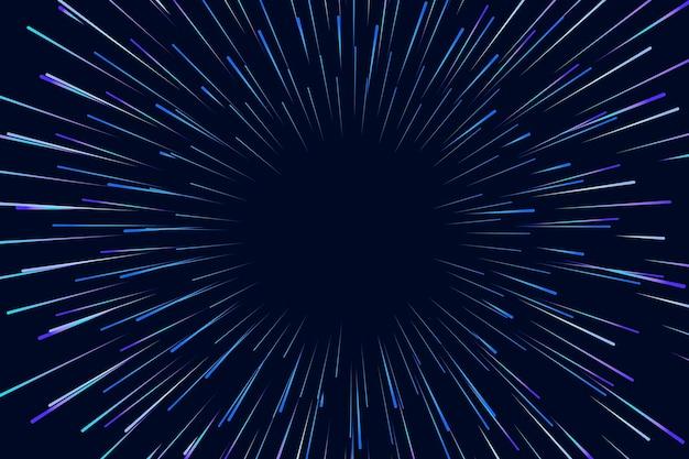 Luzes de velocidade em fundo escuro