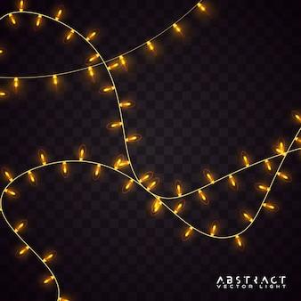 Luzes decorativas, barbante. guirlanda de luz de natal.