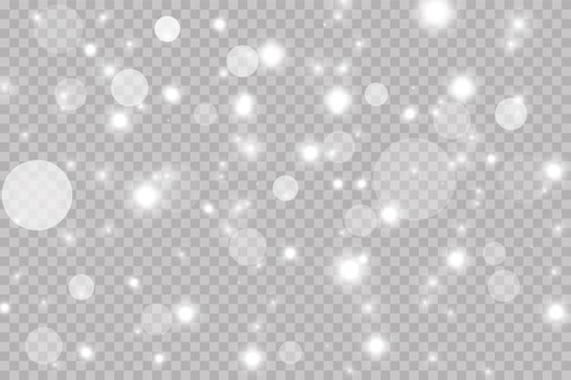 Luzes do bokeh. efeito de brilho de luz