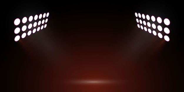 Luzes do estádio de futebol. holofote de palco