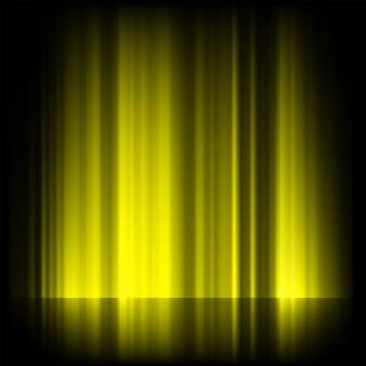 Luzes do norte amarelas, aurora boreal.