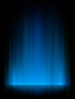 Luzes do norte azuis, aurora boreal.