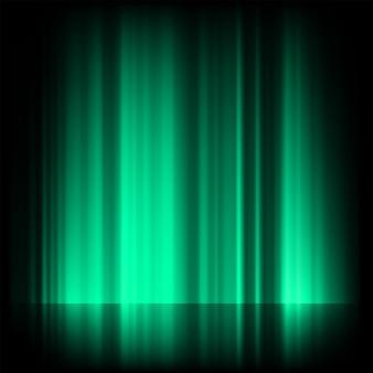 Luzes do norte azuis verdes, aurora boreal.