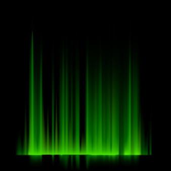 Luzes do norte verdes, aurora boreal.