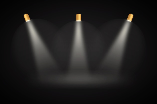 Luzes do ponto fundo preto studio