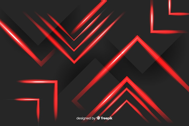 Luzes do retângulo vermelho arranjado em fundo preto