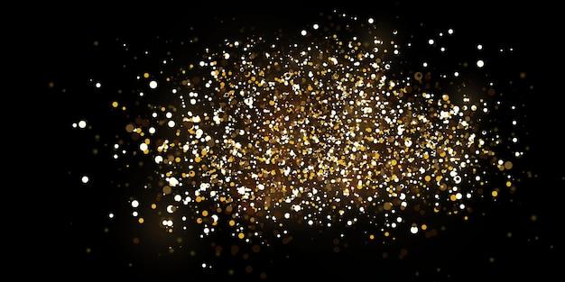 Luzes douradas caindo de natal