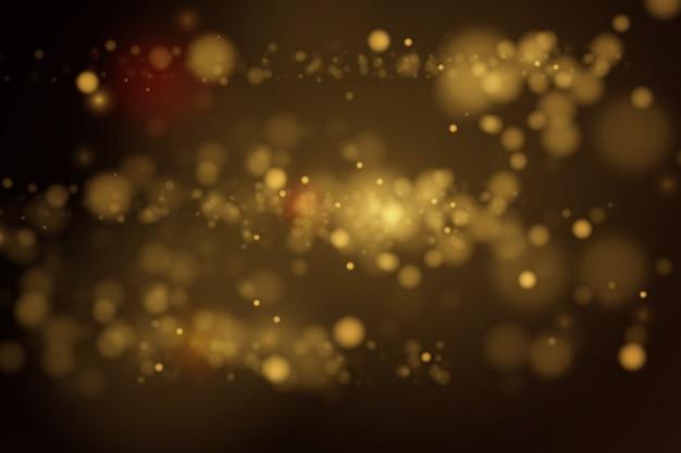Luzes douradas circulares borradas.
