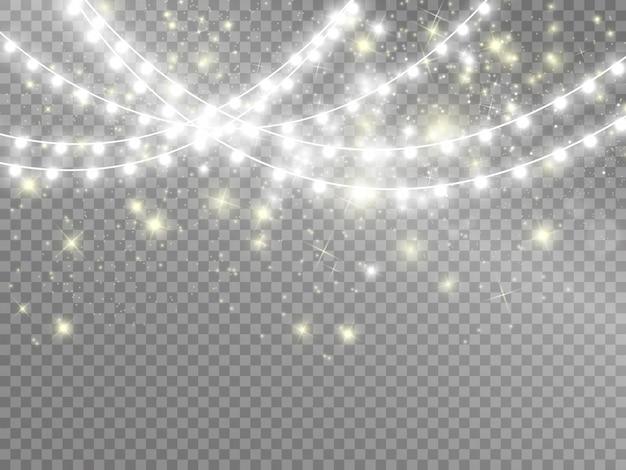 Luzes isoladas em fundo transparente. ilustração