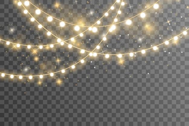 Luzes isoladas em fundo transparente.