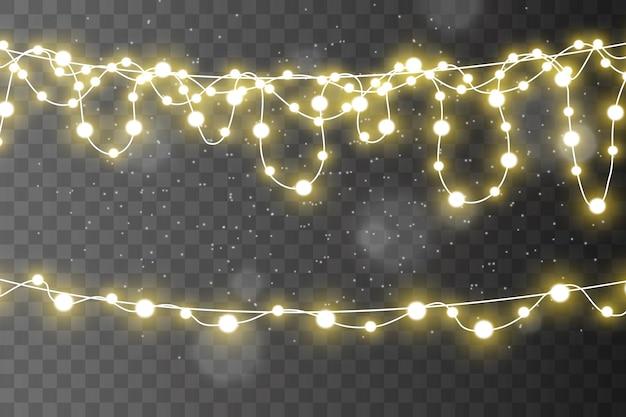 Luzes isoladas em transparente