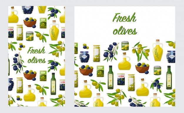 Lyer com produtos de azeitonas