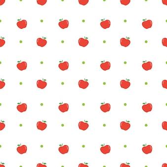 Maçã fruta sem costura padrão de fundo