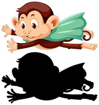 Macaco com sua silhueta