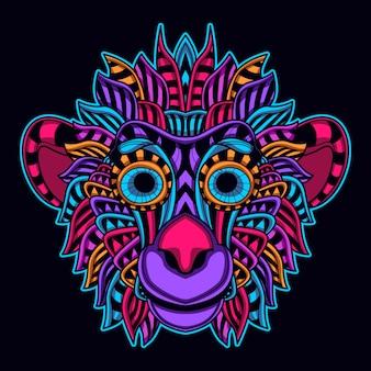 Macaco da cor do fulgor