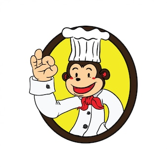 Macaco do cozinheiro chefe