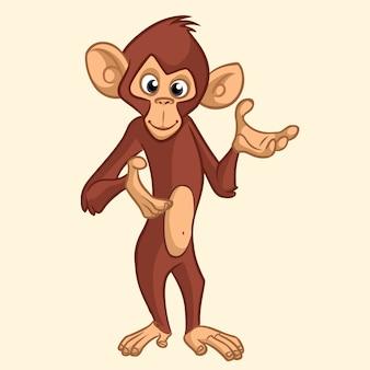 Macaco engraçado dos desenhos animados