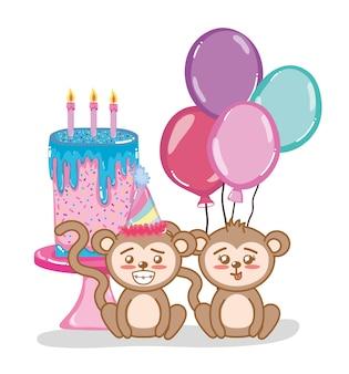 Macaco feliz aniversário