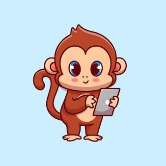 Macaco fofo com gadget