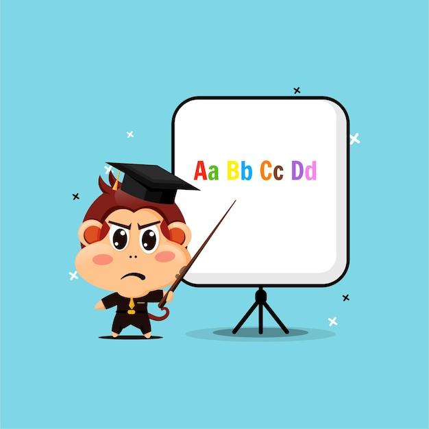 Macaco fofo se torna professor