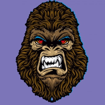 Macaco gorila cara feia