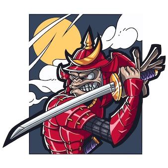 Macaco samurai