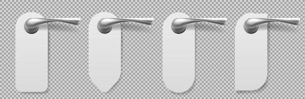 Maçanetas com cabides de formas diferentes