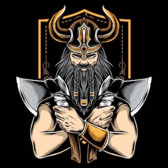 Machado segurando viking