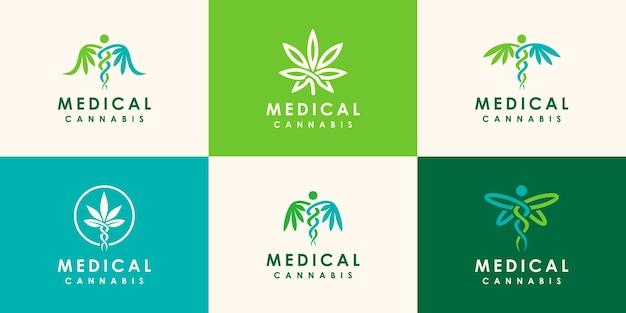 Maconha medicinal abstrata, ilustração de ícone de símbolo médico de cannabis
