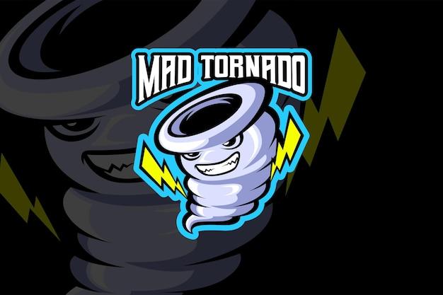 Mad tornado - modelo de logotipo esport