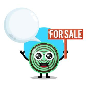 Madeira para venda mascote de personagem fofa