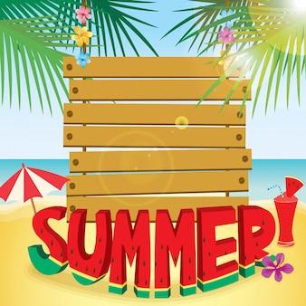 Madeira, sinal, verão, typo, madeira, melancia