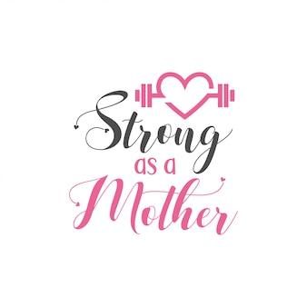 Mãe citação letras tipografia